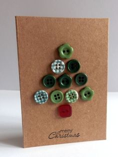 From our feature 3 Ways With - Buttons - Try making other shapes out of buttons for simple and effective cards
