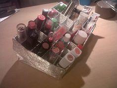 What's Craft Doc? Diy Lipstick Holder, Lipstick Organizer, Voss Bottle, Water Bottle, Lipstick Brands, Barware, Organization, Cosmetics, Crafts
