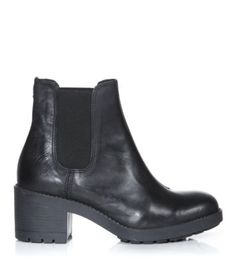 New look - Black Chunky Cleated Sole Chelsea Boots £24.99