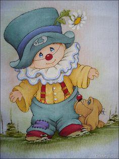 Preferidos | CrisArt Bebês Colchas Country, Country Quilts, Cartoon Clip, Cute Cartoon, Tole Painting, Fabric Painting, Drawing For Kids, Painting For Kids, Brother Innovis