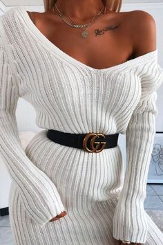 Sweater dresses Winter dresses Woolen and long sweater dress Brentiny Paris sweater dress dresses Mode Outfits, Girly Outfits, Classy Outfits, Trendy Outfits, Winter Outfits, Fashion Outfits, Womens Fashion, Elegant Outfit, Classy Dress