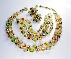 Hey, I found this really awesome Etsy listing at https://www.etsy.com/listing/206699849/vintage-vendome-jewelry-set-necklace