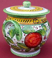 handpainted Frutta Mista Italian ceramic biscotti jar