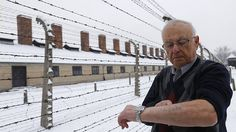Survivor Jack Rosenthal from the US displays his prisoner number. Auschwitz Survivors Return on Eve of 70th Anniversary of Extermination-Camp's Liberation. With some returning for 1st time, survivors from around the globe arrive at former death camp to pay respect to their relatives, loved ones & the millions of other Jews murdered by the Nazis.