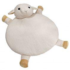 Tappetino con la forma di pecorella, ideale sia per neonati che per bambini più grandi.