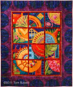 """""""Restore America: A Salute to Preservation"""" by Tom Russell, quilted by Kathy Drew, photograph by Charles Brooks Photography"""