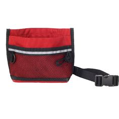 SDFC Durable Pet Dog Treat Bait Waist Pouch Puppy Reward Based Training Bag with Buckle Belt -Red