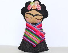 Frida muñecas de kahlo por Guadalupecreations en Etsy