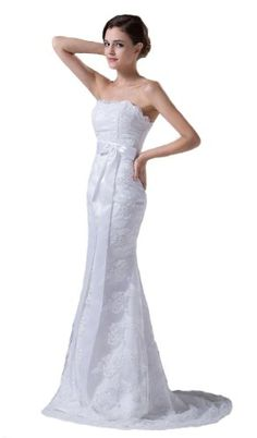 FairOnly Women's Strapless Mermaid A-line Lace Wedding Dress Bridal Gown on sale #Wedding-Dresses http://www.weddingdealusa.com/faironly-womens-strapless-mermaid-a-line-lace-wedding-dress-bridal-gown-on-sale/2118/?utm_source=PN&utm_medium=jillweddings+-+wedding+dresses&utm_campaign=Wedding+Deal+USA