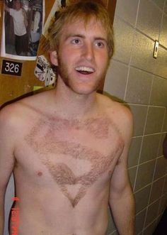 Superman too is ready shave off his chest hairs. What about you? @CoLaz