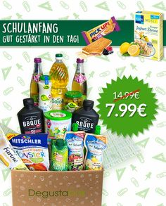 Conny's kleine Wunderwelt: SCHULANFANG! Degustabox für nur 7,99 EUR + EIN EXT...