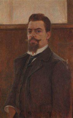 Autoportret, 1903 by Bela Čikoš Sesija  /  Bela Csikos Sesia (Croatian 1864-1931)