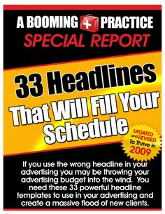 These 33 headlines have saved my bacon more than once. You can use them, or a combination of them to really increase the effectiveness of your ads, your subjec…