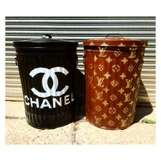 Fab ⚡Trash Bin Makeover By Ryan Humphrey x Humphrey Industries CHANEL Colors - Deep Space & Polar  LOUIS VUITTON Colors - Mud Pie & First Place Metallic #‎PlutoniumPaint‬ ‪#‎SprayPaint‬ ‪#‎MadeInTheUSA‬ ‪#‎DIYProjects‬