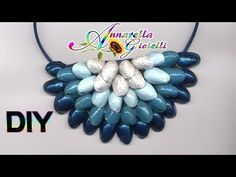Riciclo creativo | Tutorial collana pistacchi | DIY recycle statement necklace - YouTube