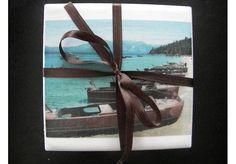 Chris Craft Wood Boat Set of 4 Drink Coasters Nautical GREAT GIFT IDEA!!!!