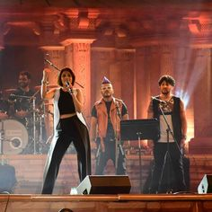 Singer Sunidhi Chauhan performs during Madhya Pradesh`s foundation day programme in Bhopal, on Nov.