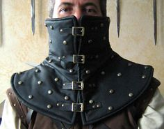 Medieval Armor Leather Padded High Collar with Studs by MorganasCollection on Etsy https://www.etsy.com/listing/120415788/medieval-armor-leather-padded-high