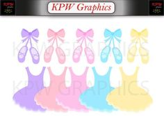 Colorful Ballerina Tutu Dresses and Shoes in a PNG format. Personal & Small Commercial use Ballerina Tutu, Tutu Dresses, Png Format, School Projects, Commercial, Clip Art, Colours, Invitations, Colorful