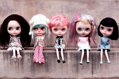 These lucky five by lollygomez ~ Basaak (Blythe clone) dolls
