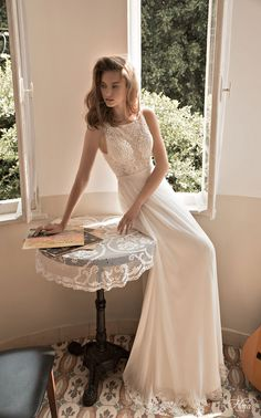 So simple, yet so beautiful, head to the blog for the full Floral Bridal 2015 Wedding Dress Collection Bridal Musings Wedding Blog