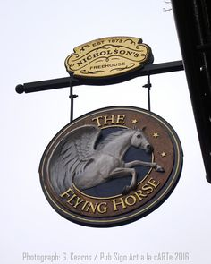 Pub Sign Art a la cARTe: The Flying Horse, London, W1 - Oxford Street