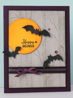 Halloween Paper Crafts, Halloween Themes, Fall Halloween, Handmade Halloween Cards, Halloween 2019, Invitation Halloween, Homemade Halloween, Stamping Up Cards, Thanksgiving Cards