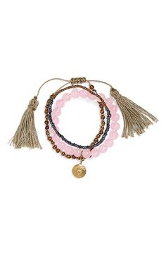 Free shipping and returns on Me to We 'Shakra' Beaded Bracelets (Set of 3) at Nordstrom.com. Make an eye-catching and socially conscious statement in a lovely set of beaded bracelets punctuated with trendy goldtone accents and dainty tassels.
