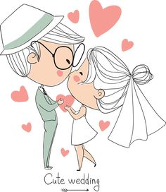 tubes personnages baiser mariage