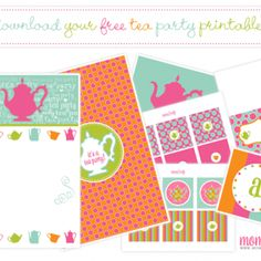 Tea Party Printables, $FREE, @momandwife.com via @tipjunkie.com