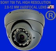 Evertech Security Camera - Dome Camera for Indoor Outdoor - 36 Ir LED 1/3'' Sony Super Had CCD 2.8-12mm Vari-focal Lens Dome Camera - 700 Tv Lines Vandal Proof 12v Dc by Evertech. $66.42. With robust weatherproof and vandal resist casing, this indoor/outdoor camera is ideal for your surveillance applications and it works well in the areas such as rain, dust, or wet environment. This infrared color camera works on day and night and it will do automatically switch to b...
