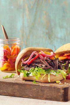 Slow-Cooker Roast Beef Sandwiches
