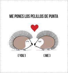 Amor a lo encrespado. Cute Quotes, Funny Quotes, What Is Love, Love You, Frases Love, Mr Wonderful, Spanish Memes, Spanish Quotes, Love Phrases