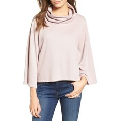 Women's Leith Cowl Neck Top (2,930 PHP) ❤ liked on Polyvore featuring tops, pink night, pink cowl neck top, leith, cowlneck top, cut-out crop tops and cowl neck tops