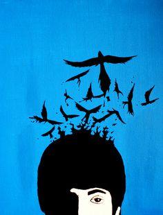 """Blackbird singing in the dead of night"""