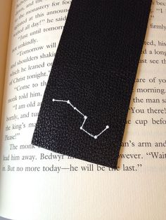 Painted Leather Bookmark - Big Dipper
