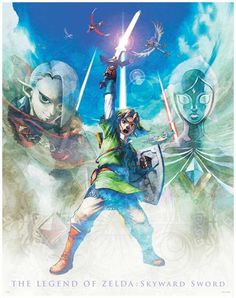 Skyward Sword poster 2. I so love the art style for this game. <3