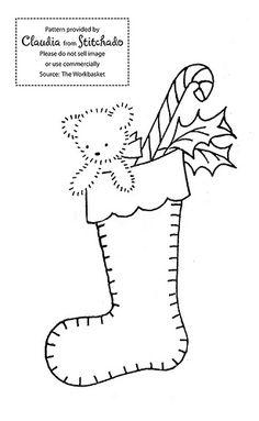 Christmas stockings embroidery