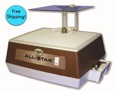 "FREE SHIPPING ))(( Glastar Allstar G8 Glass GRINDER 1/4 & 1"" bits,Mini table,Face Shield +Warranty"