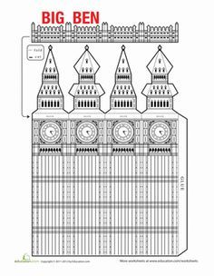 Fourth Grade Paper Projects Worksheets: Big Ben Model Big Ben London, Big Ben Tattoo, British Party, British Values, Little Passports, Thinking Day, English Lessons, English Fun, Paper Models