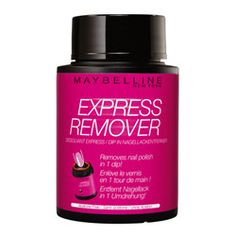#Maybelline Express Remover Nail Polish Remover Pot $9.95. An instant dip-in nail polish remover. Removes the toughest polish. Dip, swirl, done!