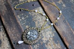 My Fair Lady Creepy Cameo Necklace Skeleton by earthcharms on Etsy