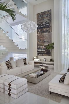 Magnificent nice Casa em tons de branco com muito charme!… by www.best-home-dec… The post nice Casa em tons de branco com muito charme!… by www.best-home-dec…… appeared first on I. Cozy Living Rooms, Living Room Interior, Home Living Room, Living Room Designs, Apartment Living, Interior Livingroom, Apartment Design, High Ceiling Living Room Modern, Modern Room