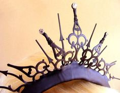 Gothic Tiara with Swarovski Crystals The Queen of by EJPcreations, $64.00