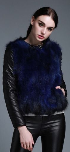 Womens Fur Leather Jacket Sheepskin Spring/Fall Coat Raccoon Fur Free Mink Hat #Unbranded #QuiltedJackets #Formal