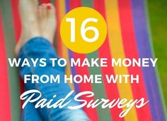 Earn money, rewards, and sweepstake entries for sharing your thoughts on products and services! Here are the best paid survey sites for making money from home.