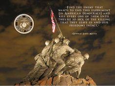 USMC Motivation Poster General James Mattis Poster 18x24 (IwoJima21)