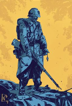 ArtStation - WW1 french soldier, Nicolas Petrimaux