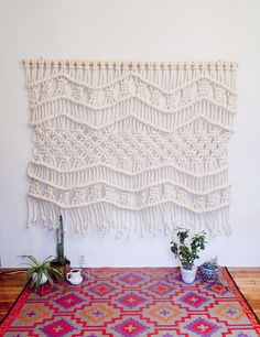 Macramé--I don't usually like macrame but this is very lacy, simple, and pretty.