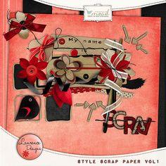 [Style]Scrap paper Vol1 [LDstylescrappapervol1] - €2.60 : My Scrap Art Digital, Passion for Digital Scrapbooking